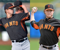 giants' peavy, cain ready to push each other
